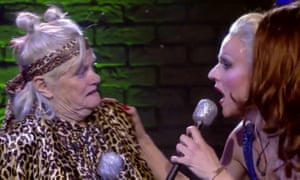 Ann Widdecombe and Courtney Act on Celebrity Big Brother.