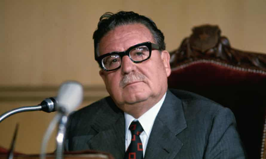 Chilean president Salvador Allende in 1973. Allende's government was overthrown in a military coup the same year.