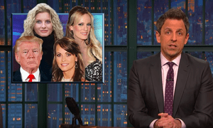 Seth Meyers: 'Following this presidency is like trying to binge watch entire seasons of Days of Our Lives, Law and Order: SVU and Survivor on three TV screens at the same time'