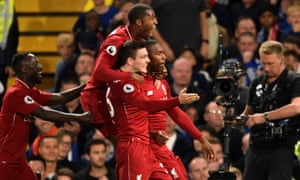 Liverpool's Daniel Sturridge celebrates with teammates after scoring the equaliser.