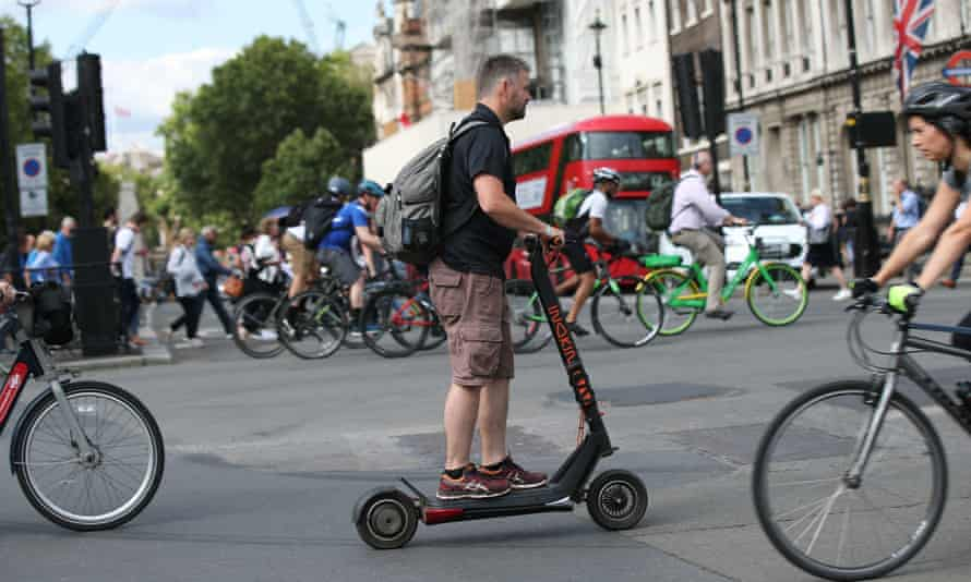 An e-scooter user