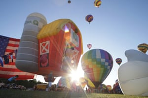 New Jersey, USAHot air balloons take flight at the 35th annual QuickChek New Jersey Festival of Ballooning