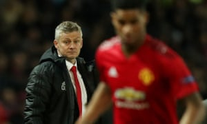 Ole Gunnar Solskjær watches on against Barcelona as Manchester United head for a fourth defeat in five matches.