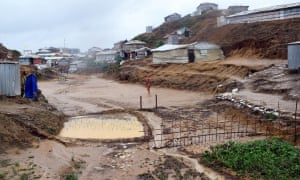 The Kutupalong refugee camp is seen after a storm, in Cox's Bazar