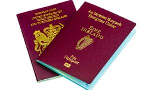 Passports for both the Republic of Ireland (Eire), and United Kingdom (UK)