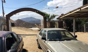 The view overlooking the US border from Kikito's family home