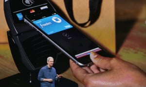 Apple's Tim Cook discussing Apple Pay