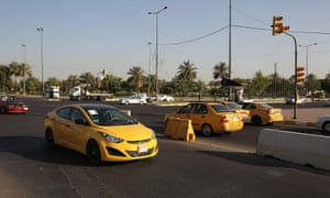 Cars in Baghdad's high-security Green Zone