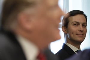 Washington D.C, USWhite House Senior advisor Jared Kushner looks at U.S. President Donald Trump during a Cabinet meeting at the White House