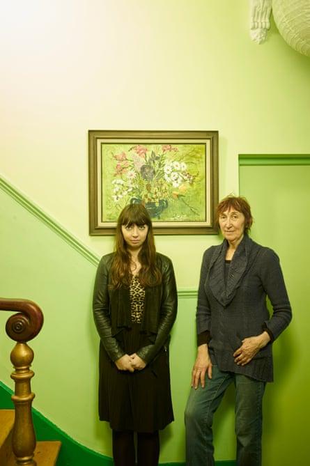 Michele's bright green hallway