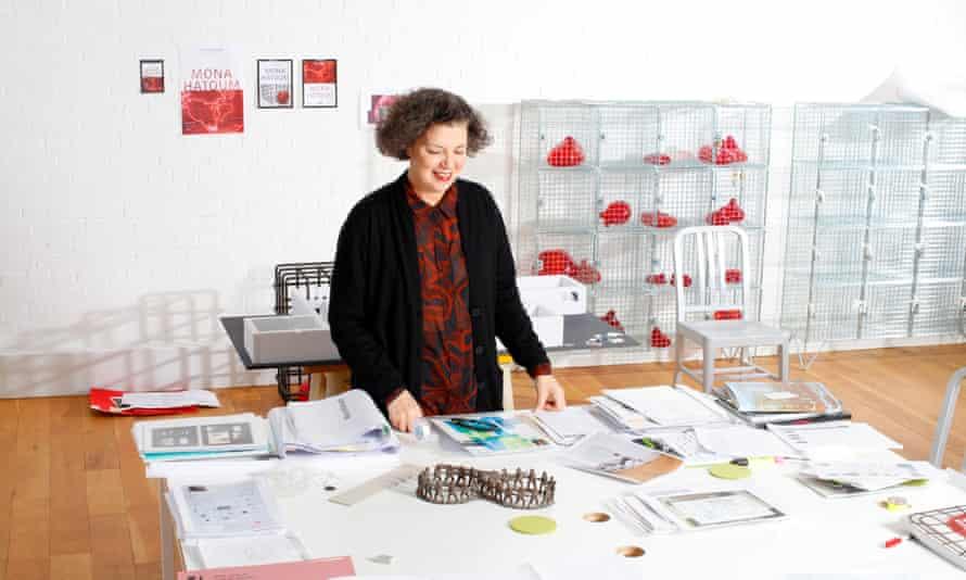 Mona Hatoum in her east London studio, 31 March 2016