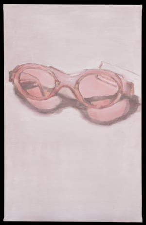 Pink Glasses, 2001 by Luc Tuymans from the exhibition Glasses