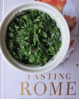 Recipe from Katie Parla and Kristina Gill's book Tasting Rome.