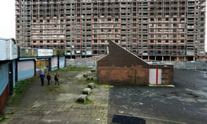 The Red Road Flats await demolition