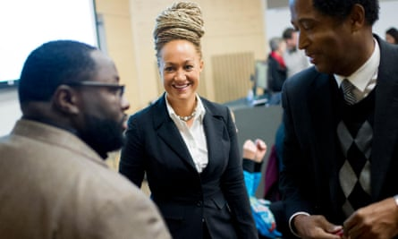 Rachel Dolezal, Spokane's NAACP president, at a Black Lives Matter event in January.