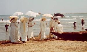 a still from the 1971 film of Death in Venice (Morte a Venezia).