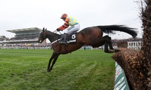 Might Bite, ridden here by Nico de Boinville in this year's Betway Bowl Chase, tired badly in the last quarter-mile at Haydock.