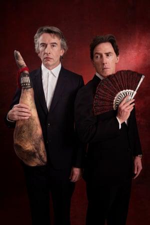 Comedians Steve Coogan and Rob Brydon by Sarah Lee