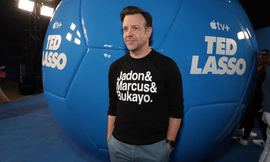 Jason Sudeikis wore the shirt at an event for Ted Lasso on Thursday