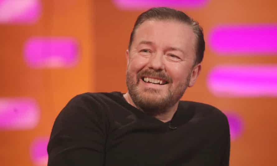 Ricky Gervais is one of more than 300 celebrities who have collaborated on comics for the Rewriting Extinction project.