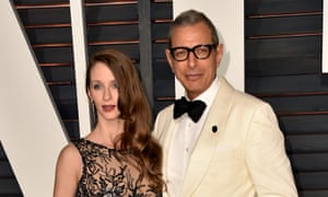 Married life: Goldblum and wife Emilie Livingston.