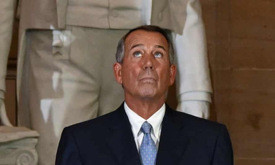 John Boehner, the former House speaker, at the US capitol in Washington