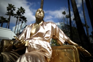 2018A statue of Harvey Weinstein on a casting couch made by artist Plastic Jesus is seen on Hollywood Boulevard near the Dolby Theatre during preparations for the Oscars in Hollywood, Los Angeles, California