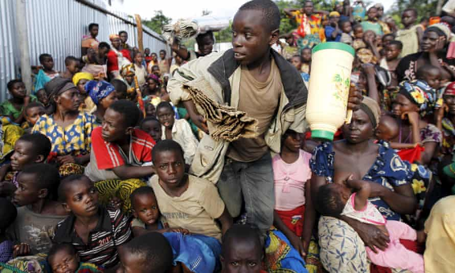 Burundian refugees in Kagunga village in western Tanzania.