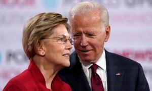 Joe Biden and Elizabeth Warren.