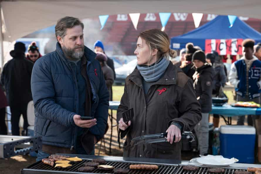 John (Joe Tippett) and Mare (Kate Winslet).