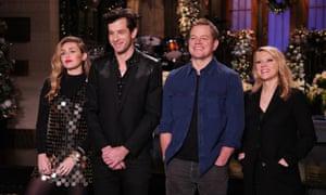 Saturday Night Live – Season 44: musical guests Miley Cyrus & Mark Ronson, host Matt Damon, and Kate McKinnon.