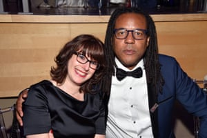 Colson Whitehead with his wife, Julie Barer, in New York, 2017.