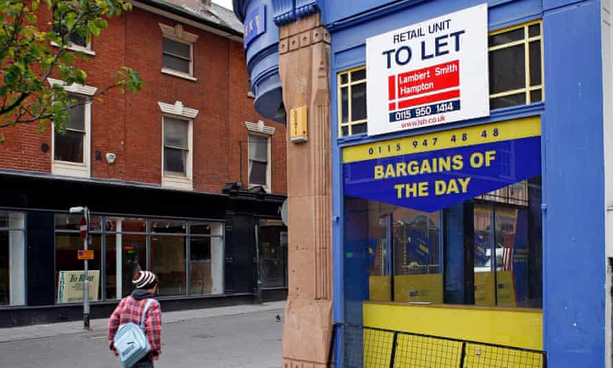 A shop with a 'to let' sign up in Nottingham
