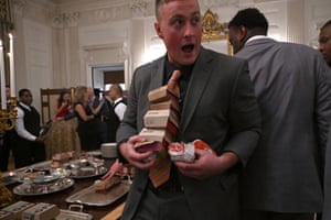 The State Dining Room resembled a fast food restaurant as the players hastily selected their meals