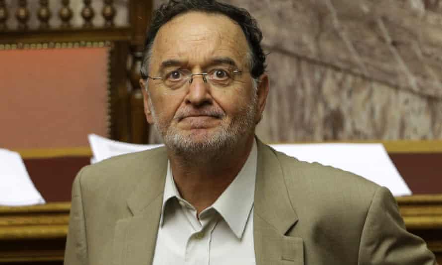 Greece's former energy minister Panagiotis Lafazanis