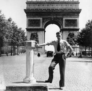 Albert Bradshaw aged 22, in Paris, 1950.