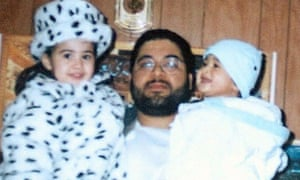 Shaker Aamer with his son Michael and daughter Johninh