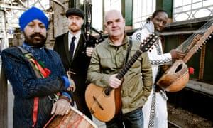 Johnny Kalsi, Griogair Labhruidh, Simon Emerson and N'Faly Kouyate, AKA Afro Celt Soundsystem.