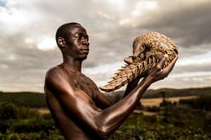One of the 'pangolin men' of Zimbabwe
