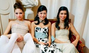 Jasmine Li (centre) at the Crillon debutante ball for Vanity Fair magazine in Paris, France.