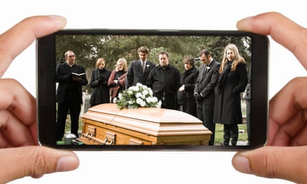 An increasing number of funerals in the UK are now live streamed.