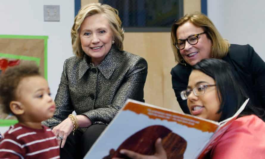 Hillary Clinton attends the early childhood development initiative 'Talk to you Baby' in New York.