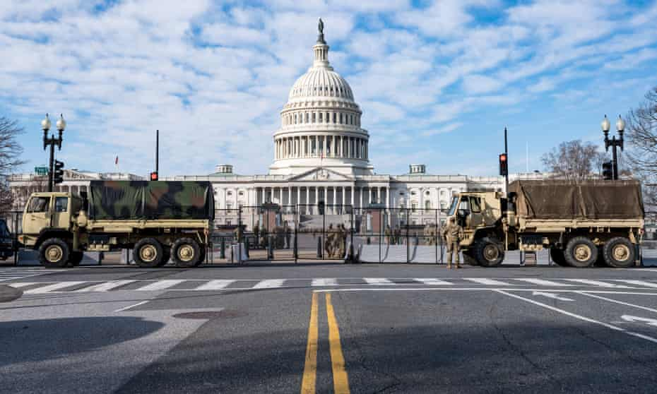 National Guard outside the US Capitol