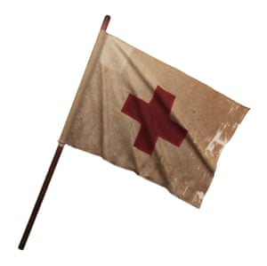 Probably the first British Red Cross flag. This flag was carried when financial aid was delivered during the Franco-Prussian War in 1870