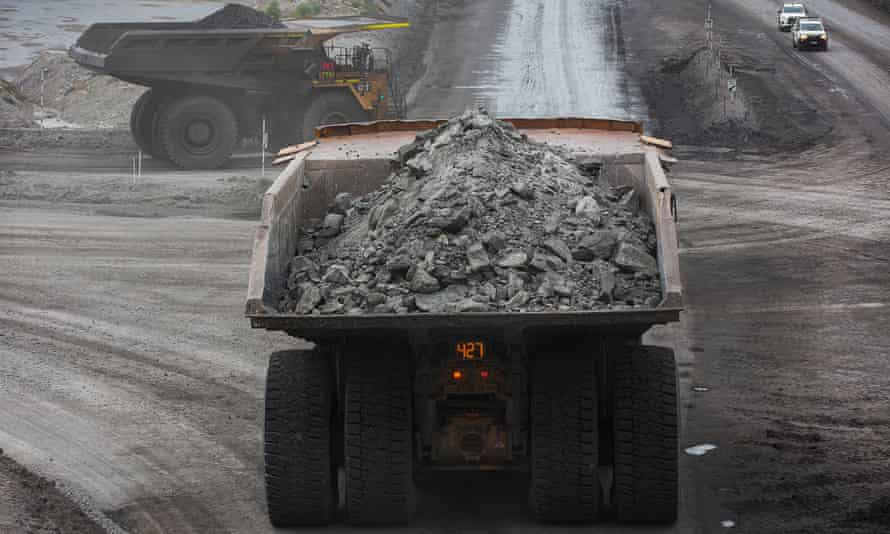 truck loaded with coal