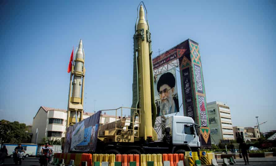A display of Ayatollah Ali Khamenei in Tehran