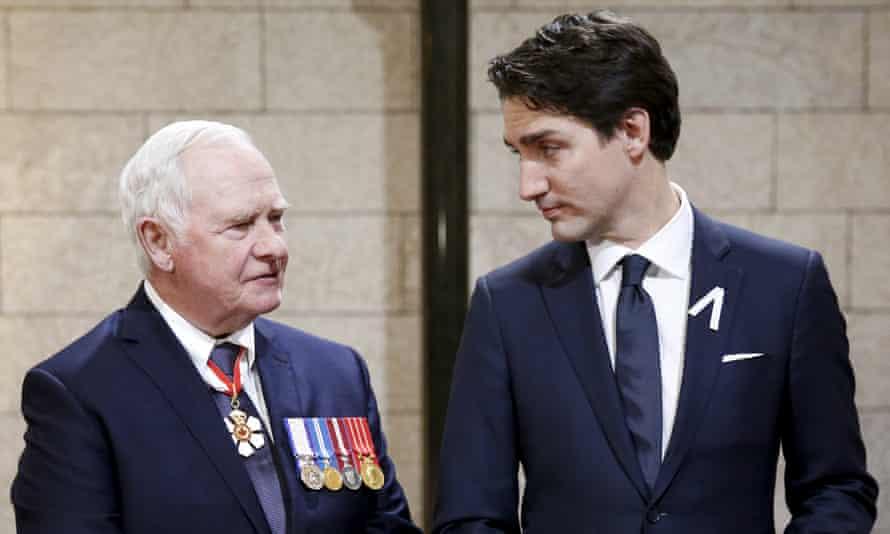Canada's governor general David Johnston and prime minister Justin Trudeau