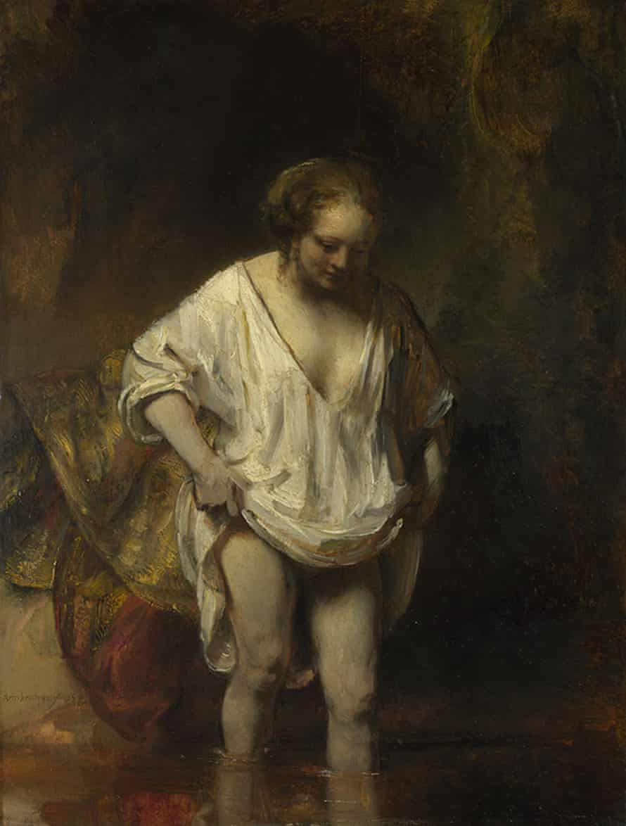 A Woman Bathing in a Stream (1654) by Rembrandt.