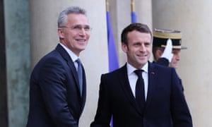 Jens Stoltenberg and Emmanuel Macron