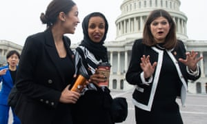 New Democrats at the Capitol last week. From left, Alexandria Ocasio-Cortez, Ilhan Omar and Haley Stevens.